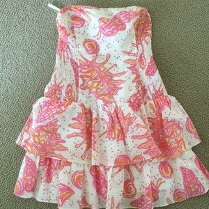 Strapless Tiered Lilly Dress